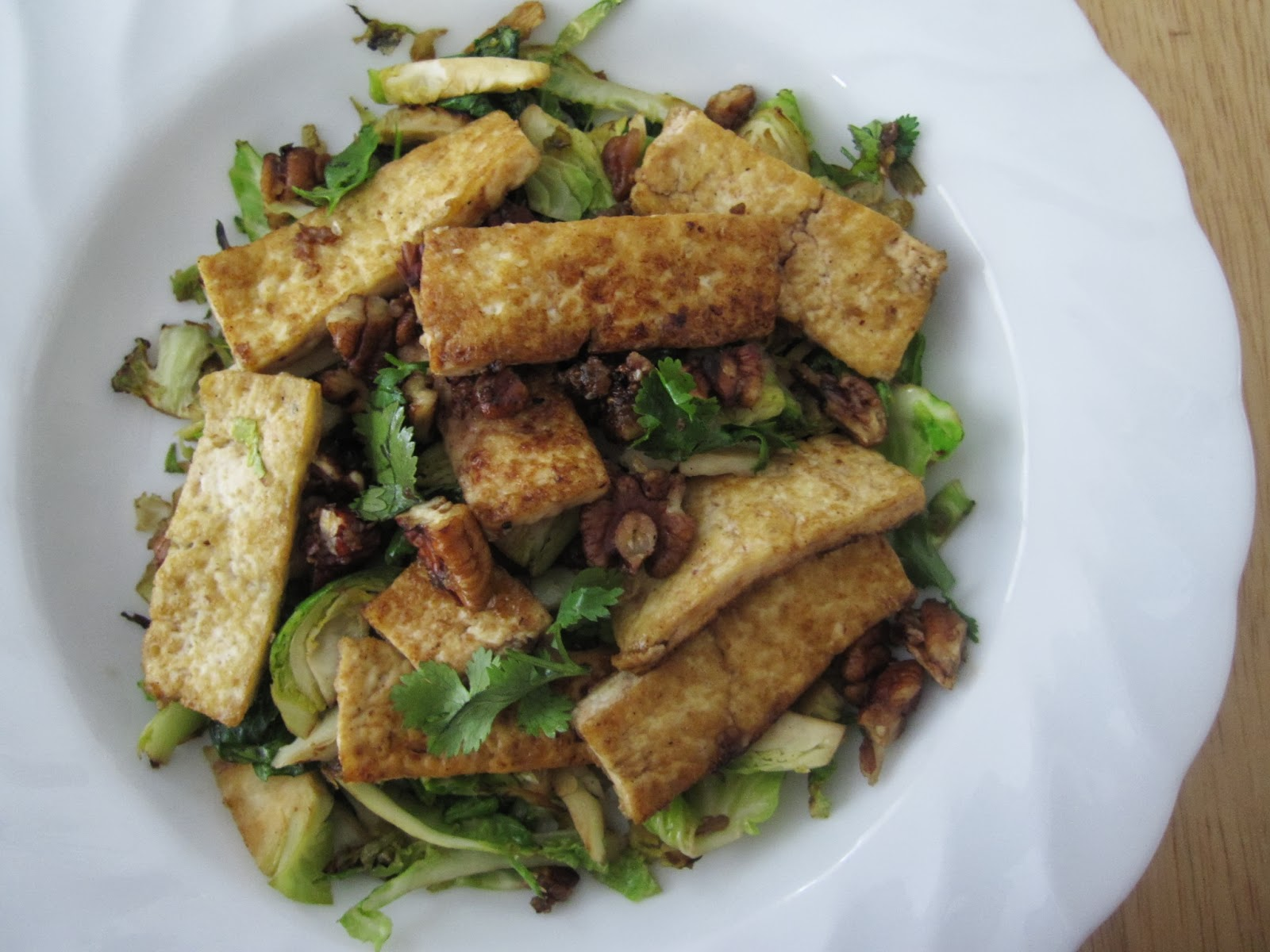 The Scratch Patch: Carmelized Tofu with Brussels Sprouts