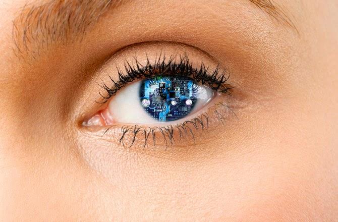 Google'dan kontakt lens kamera