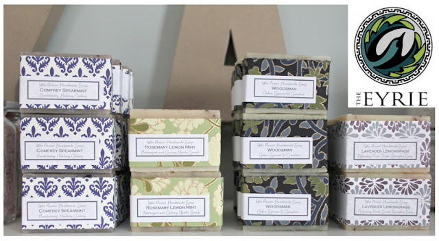 Wholesale local handmade natural soap Ypsilanti Michigan the Eyrie by the little flower soap co