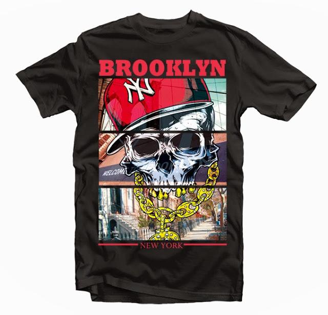 brooklyn skull tshirt