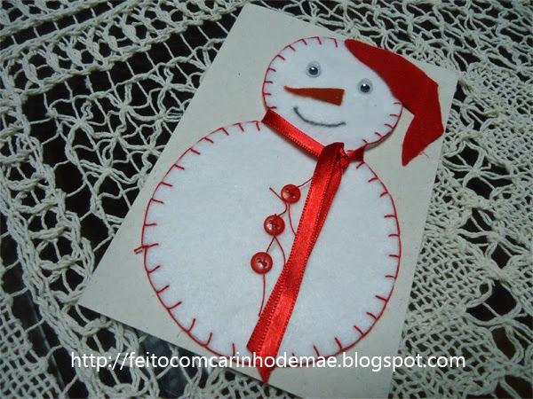 PAP cartão de natal artesanal
