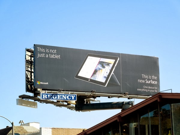 not just a tablet Surface 2 billboard