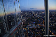 London viewed from the top floor of The Shard, just after sunset