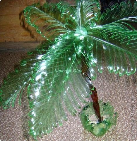 Поделки пальма из пластиковых бутылок