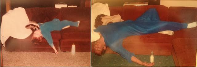Durmiendo como niños, fotos de antes y después.