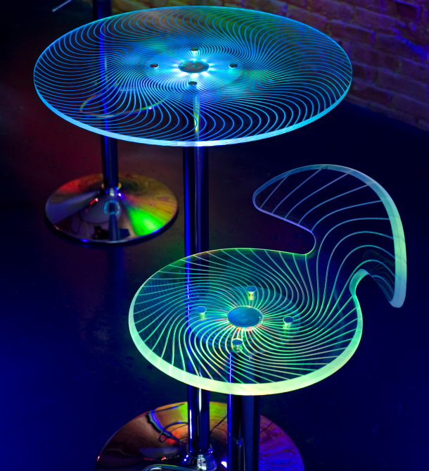 The LumiSource Spyra LED Light Up Bar Table, Designed For The Consumer  Market, Mirrors The Easy Availability Of LEDs. Featuring An Etched Acrylic  Top And ...