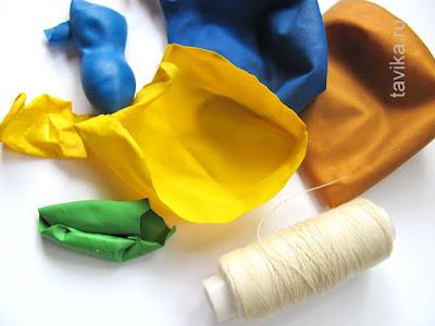 поделка: куколка из воздушного шарика