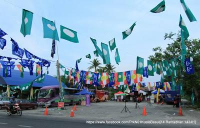 gambar penamaan calon PRK Kuala Besut