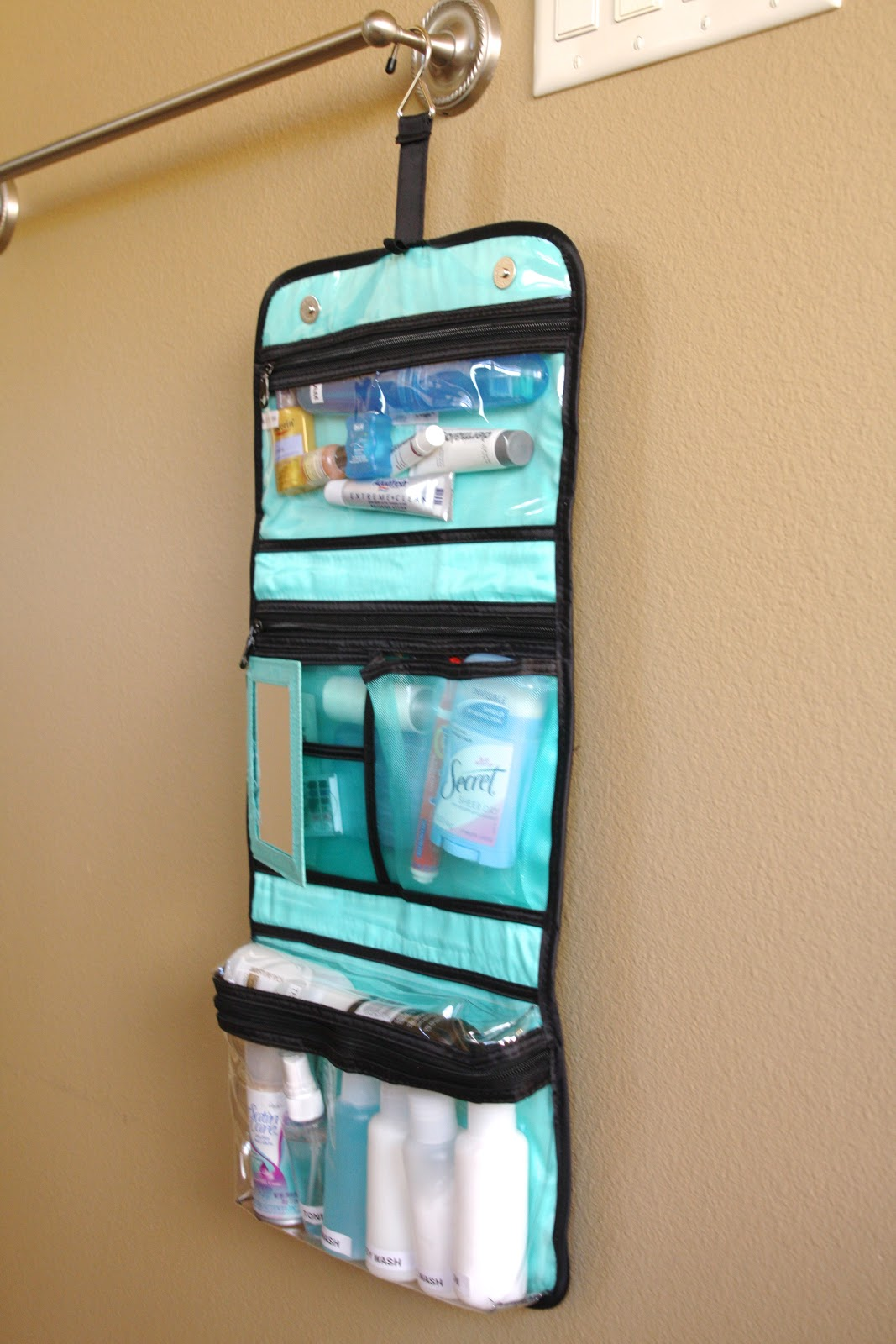 Organized travel toiletry bags simply organized Ideas for hanging backpacks