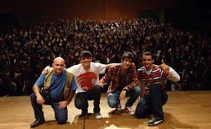 Com Thiago Ventura, Afonso Padilha e Lázaro Câmara