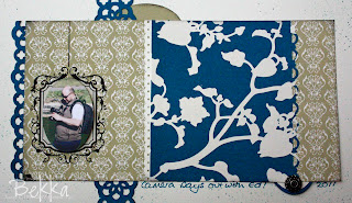 Timeless Portrait Scrapbook Page Detail