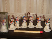 Снеговики из пластики