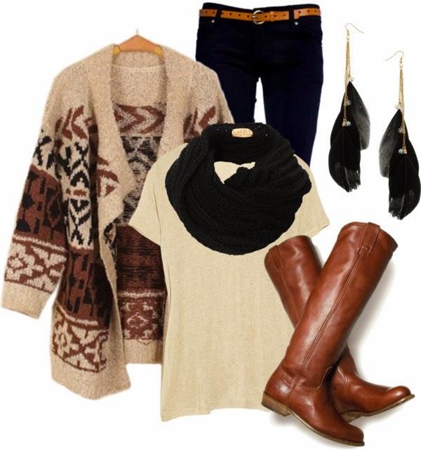 Conjuntos u Outfits con color Marrón para Otoño de ...