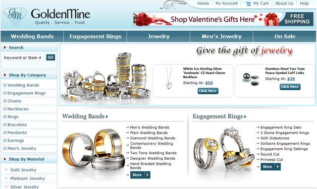 Hoop Earrings at  GoldenMine.com