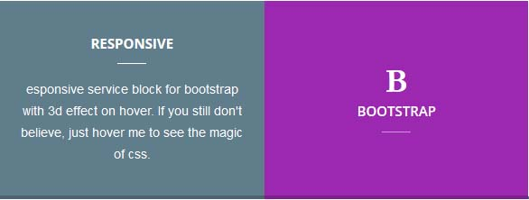 3D Service Block for Bootstrap