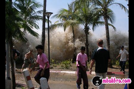 dikejar tsunami