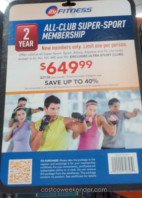 Get your workout on with the 24 Hour Fitness 2-year All Club Super Sport Membership