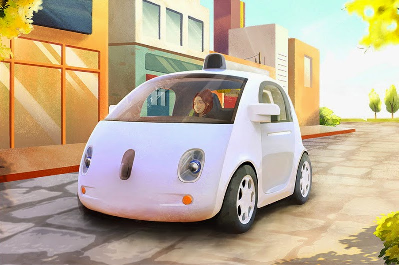 Google self-driving car prototype, concept art