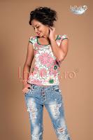 Bluza imprimeu floral funda verde (MBG)
