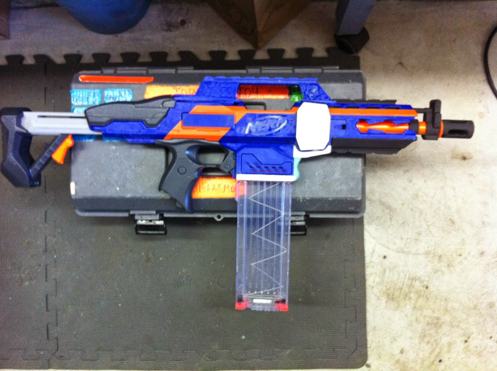 the dart zone 2014 un fortunately safety prevailed this gun is a basher not a wall hanger all the local games are public