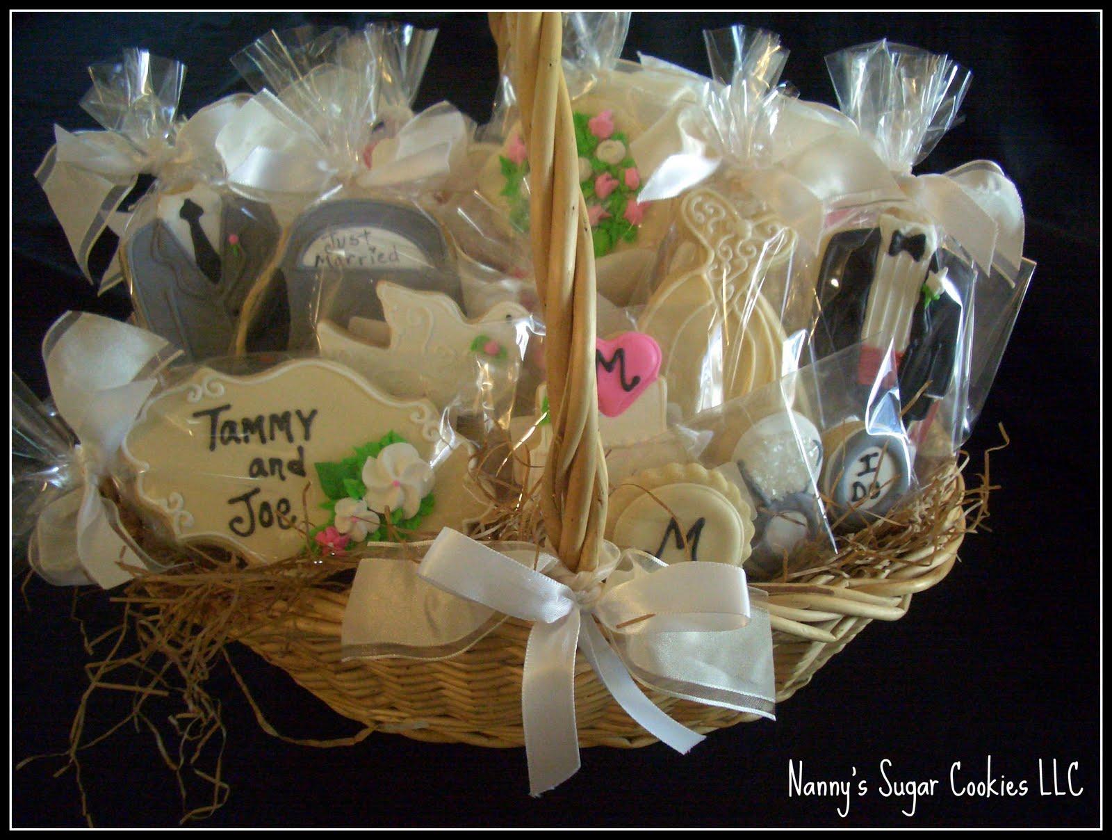 Personalized Wedding Cookie Basket