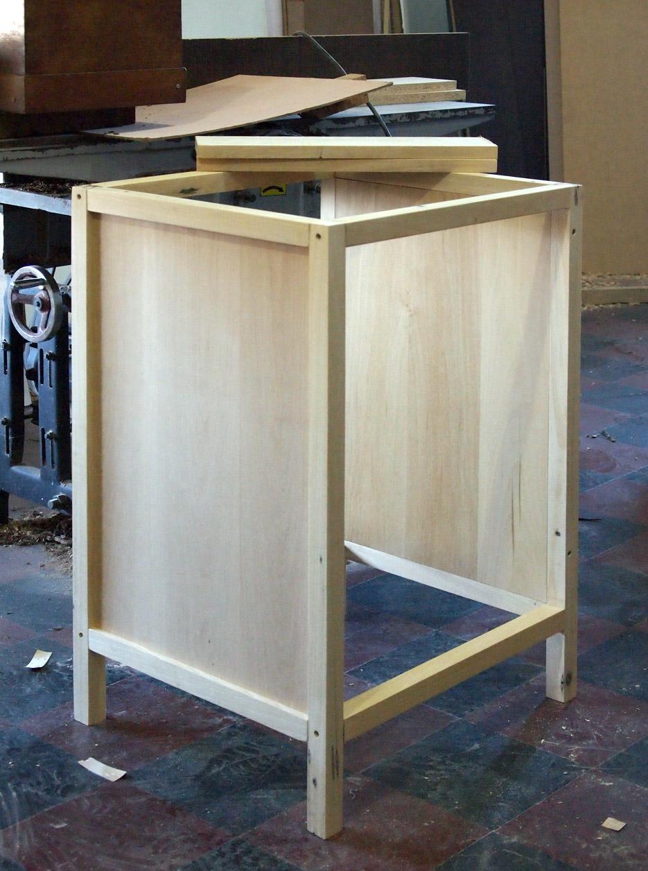 muebles a medida vanitory enchapado lustre roble oscuro (proceso)