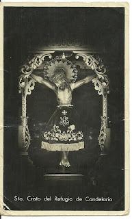 Retrato del Cristo del Refugio antiguo de Candelario Salamanca