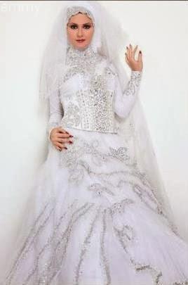 فساتين زفاف عرايس محجبات 2014-2015