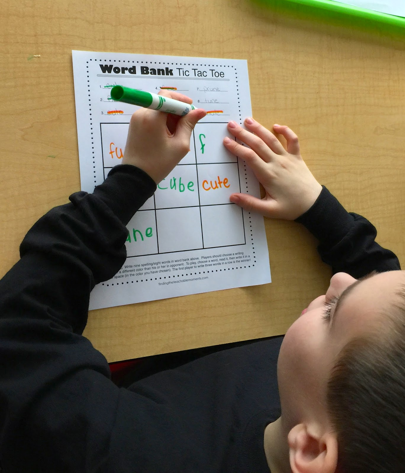 First Grade Spelling Homework