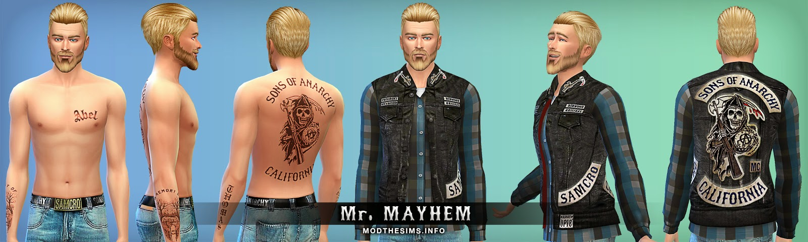 Blog sons of anarchy sim clothing and bed recolors by mr mayhem