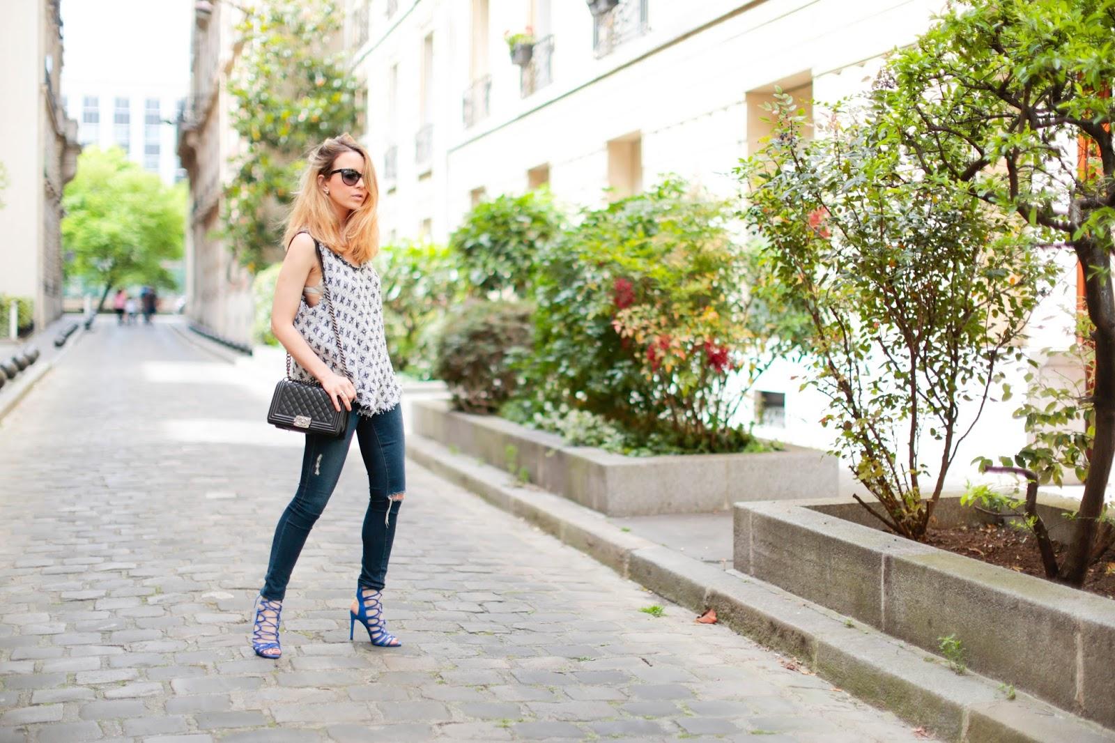 streetstyle, chanel, zara, iro, paris, fashion blogger