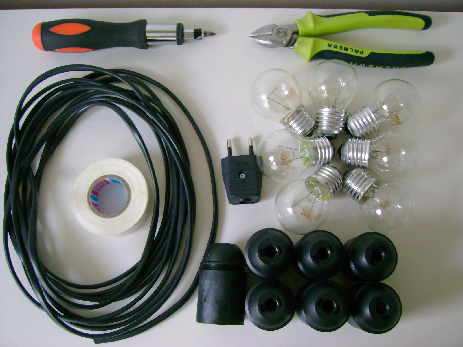 El taller de chlo diy guirnalda de luces for Luces para exterior de casa