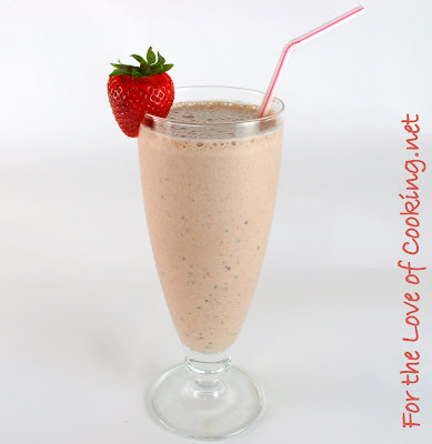 Chocolate, Strawberry, and Banana Milkshake