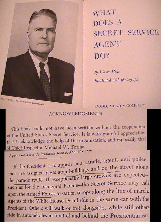 TORINA WROTE THE SECRET SERVICE MANUAL- HE WOULD TELL THE TRUTH (1962 BOOK)