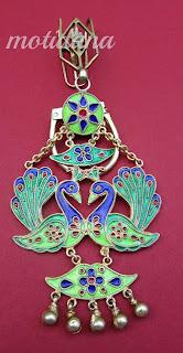 peacock motif minakari juda  or key holder from India