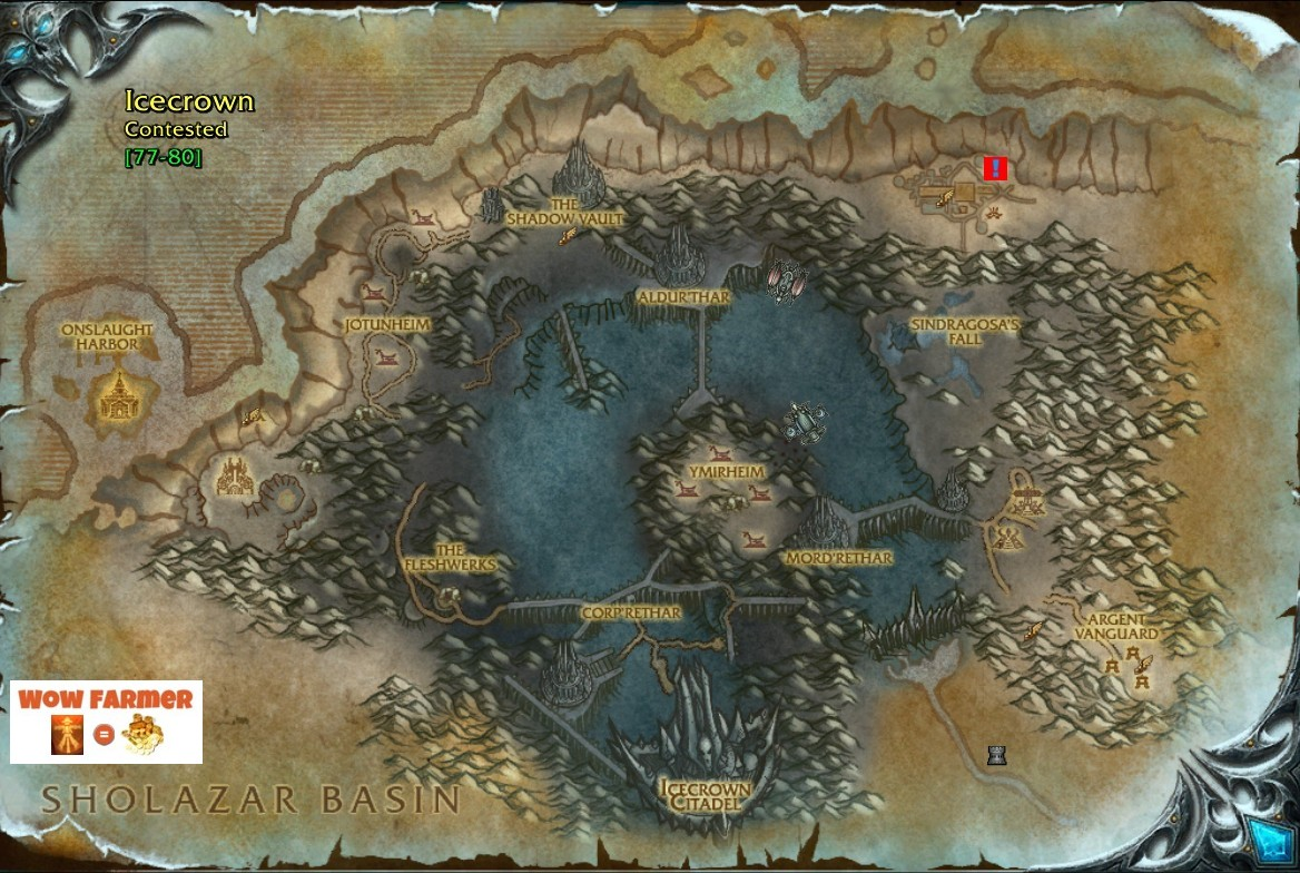 The Image Above Shows Where Quest Giver Avareth Swiftstrike Is Located See Red Square With Blue Exclamation Mark This Area