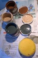 Chalky Finish in anthrazit, hellbraun und dunkelbraun