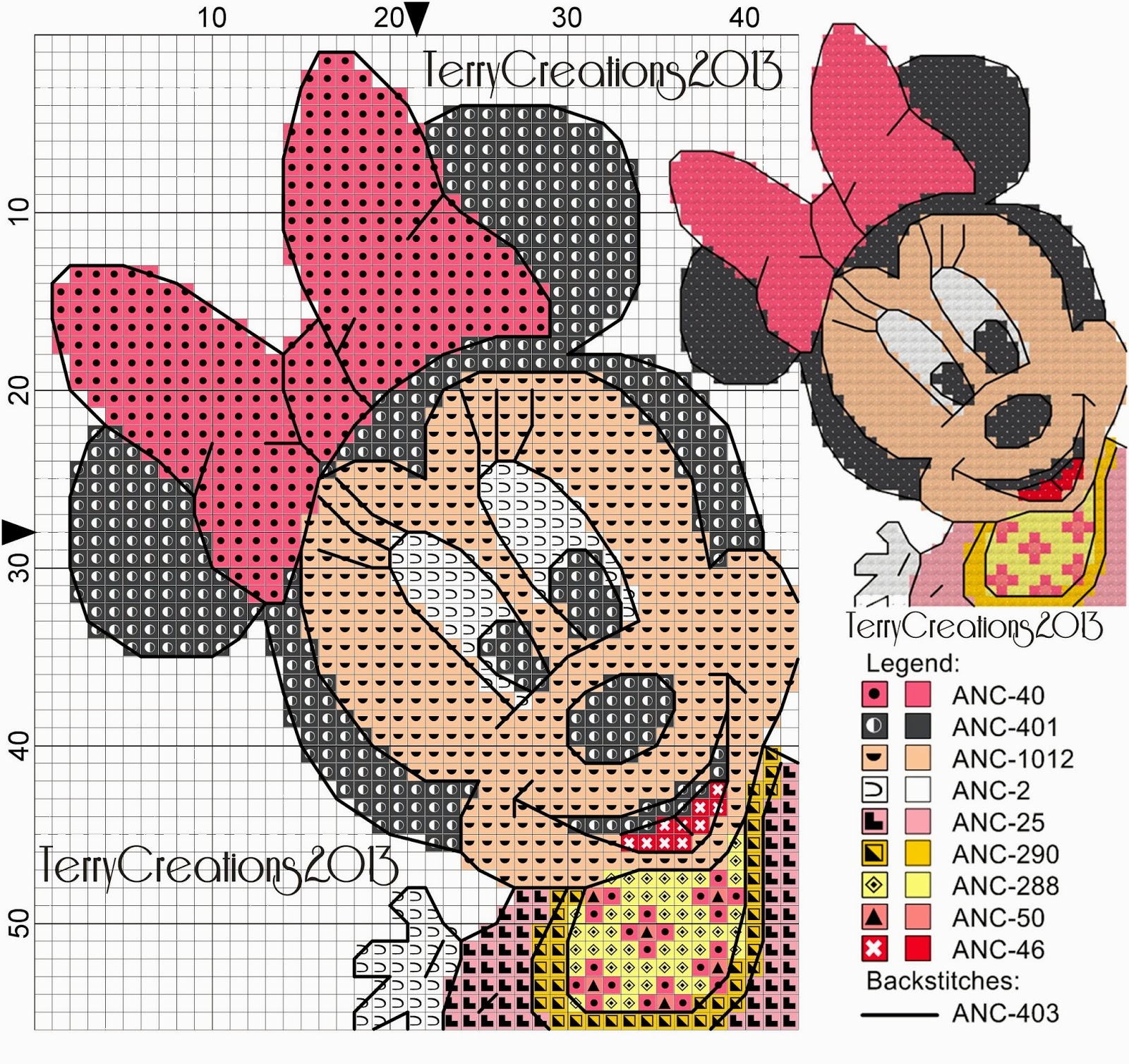 Terry Pc Stitch Minnie Baby