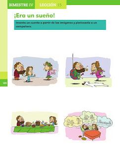 Apoyo Primaria Español 2do grado Bloque 4 lección 15 ¡Era un sueño!