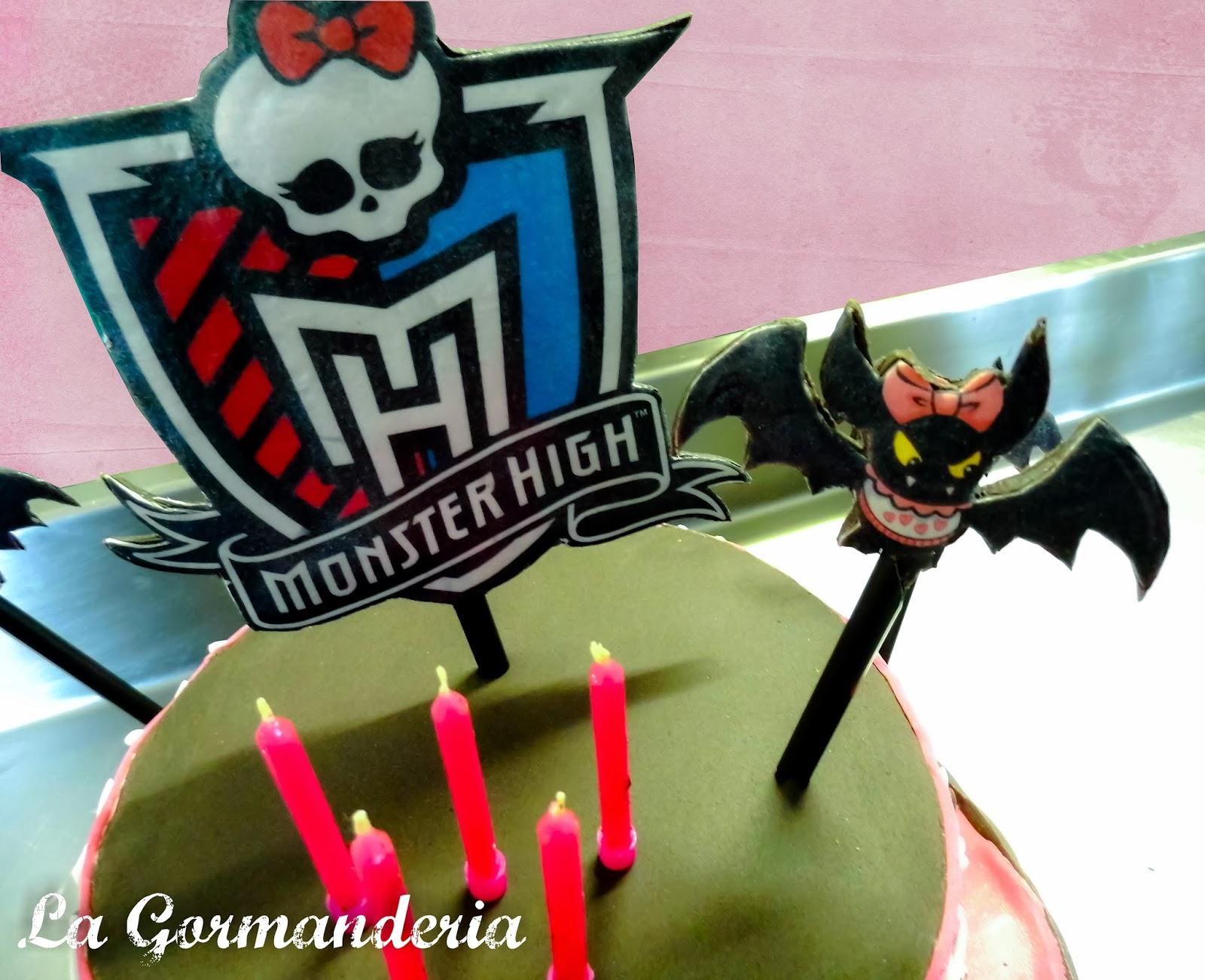 Draculaura Cake Monster High Oblea Fondant