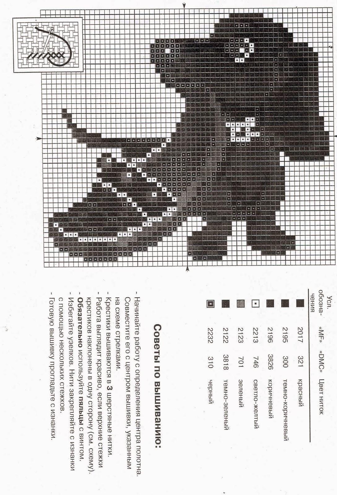 схема вышивки полнолуние на черной канве