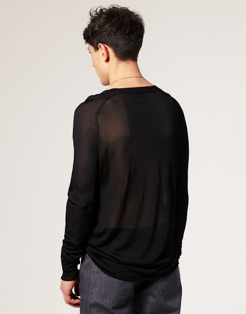 men sheer jumper