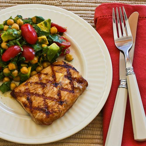 Kalyn's Lake Powell Fish Marinade and Grilled Mahi Mahi (Low-Carb, Gluten-Free, South Beach Diet) found on KalynsKitchen.com