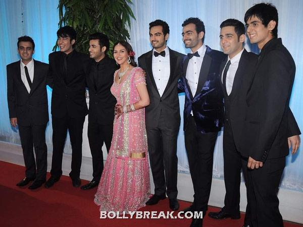 bharat takhtani and cousins - (11) - Couples at Esha Deol's Wedding Reception