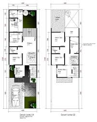 denah rumah sederhana dengan lantai satu