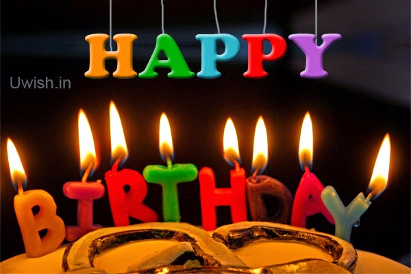 Images Of Birthday Cakes With Candles And Wishes : Happy Birthday on cake with candles Uwish - Wishes and ...