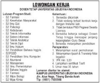Informasi Lowongan Kerja SMK SMA Terbaru Information ...