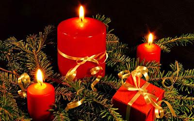 Fondo de pantalla con las velas de Navidad