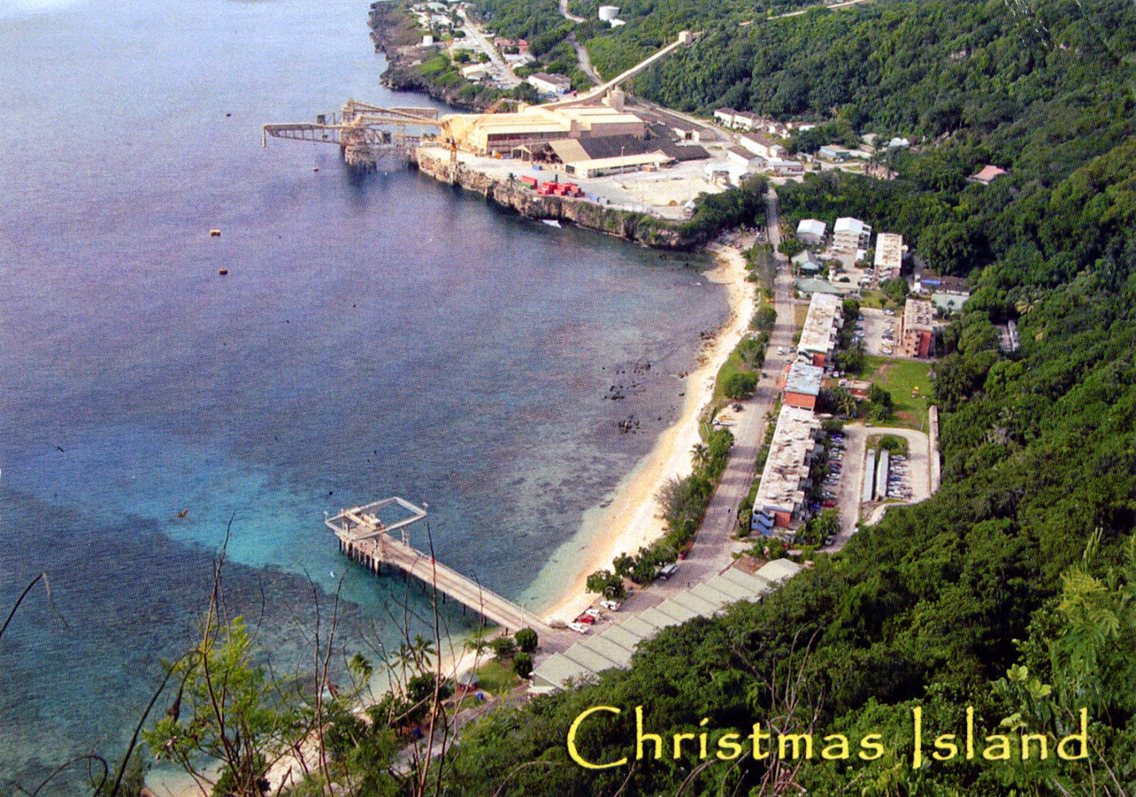 ... COME TO MY HOME!: 1202 AUSTRALIA (Christmas Island) - Flying Fish Cove