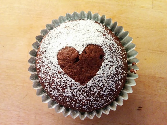 Chocolate Cupcakes Recipe Melt in Middle Heart Valentines Day